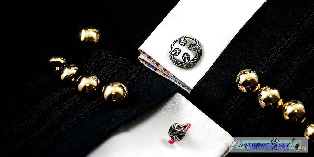 Fleur Di Lis 百合花飾十字盾袖扣