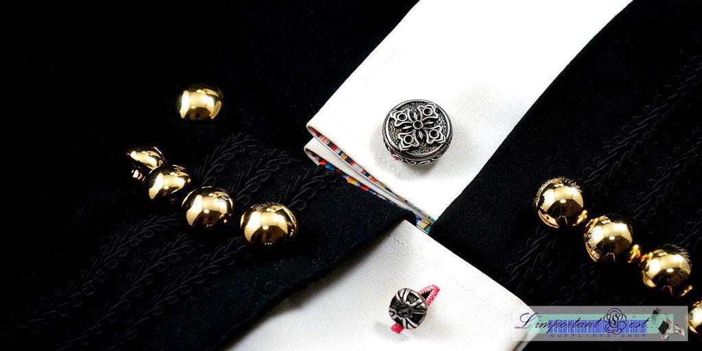 錦花十字袖扣