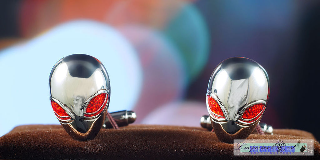 紅眼Alien外星人造型袖扣