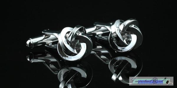 銀條型結球袖扣