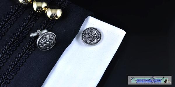 泰式吉祥圖騰鍍錫袖扣