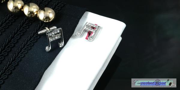 音樂精靈系列:雙十六分音符袖扣