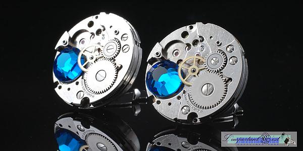 「聖堂」袖口扣蓋 23mm Blue Zircon
