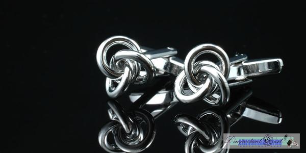 銀線圈結型袖扣