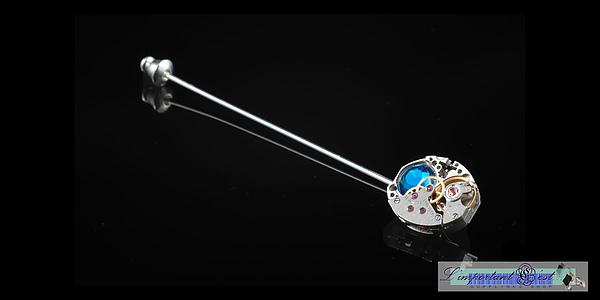 「芯眼」領針-Capri Blue