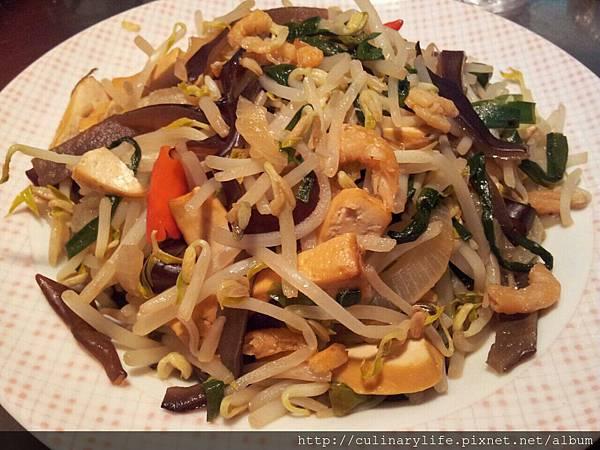 綠豆芽韮菜干絲