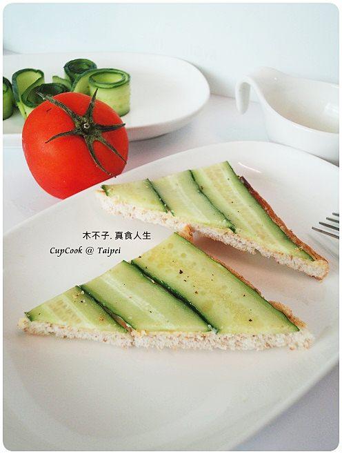 奶油小黃瓜烤吐司 cucumber (2)