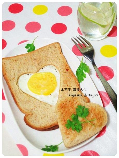 愛心蛋煎吐司 egg toast (7)