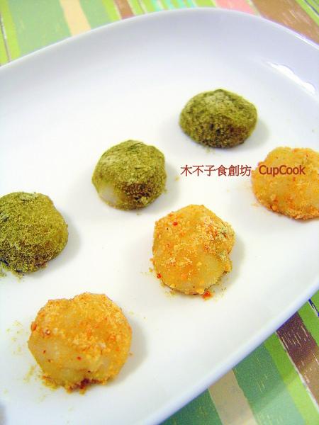 美食_平底鍋做麻糬