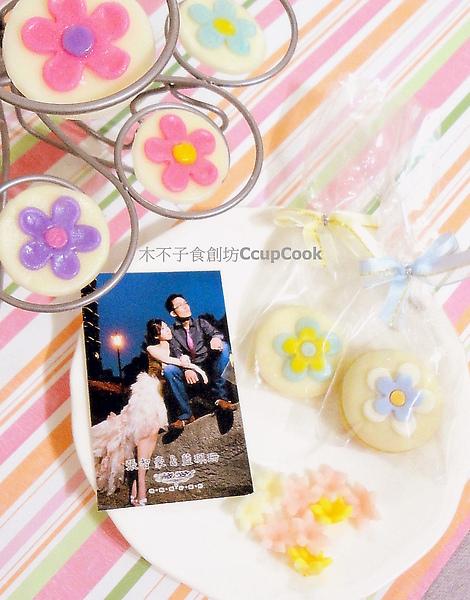 婚禮謝禮_手工糖花橄欖油餅乾