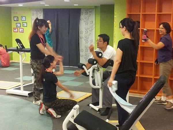 渝鈴也帶老公來體驗一下,30分鐘運動的效果