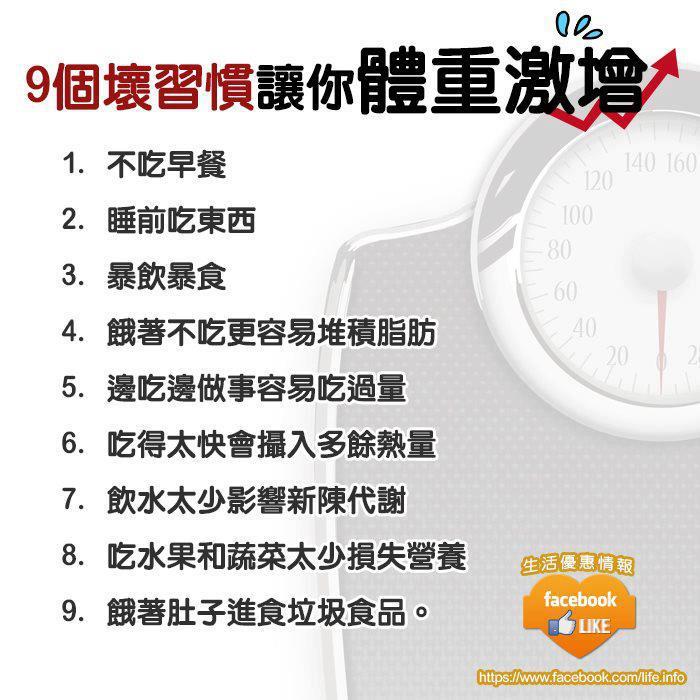 9個壞習慣,讓你的體重激增