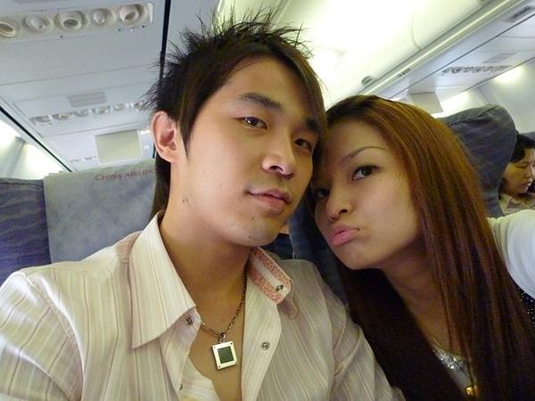 飛機上..老公你好帥唷