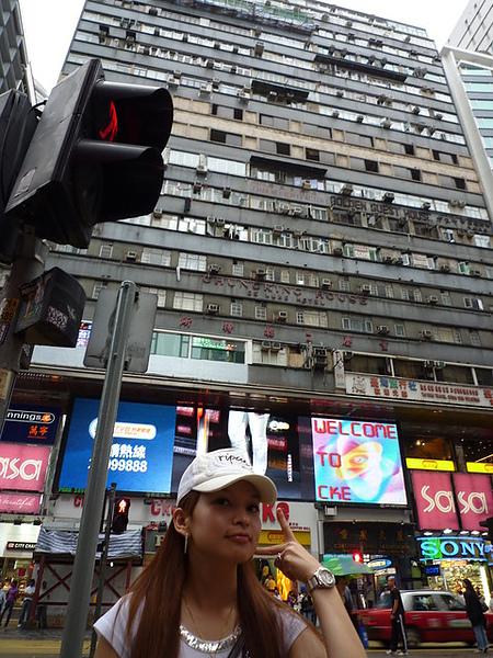 傳說中的重慶大廈..很多外國人..聽說裡面很亂  勿亂闖唷