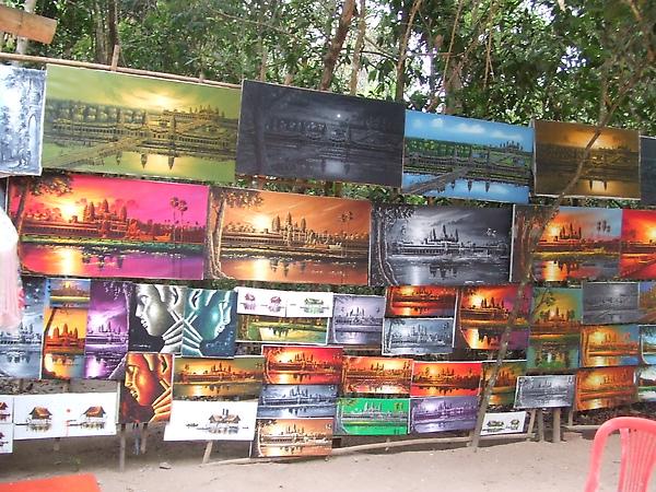 賣觀光客的畫