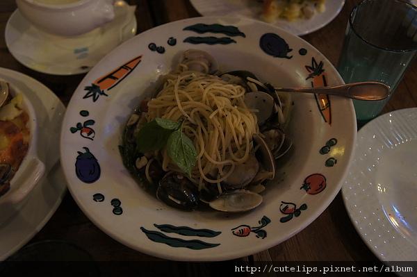 蒜味香草海瓜子蛤蜊麵