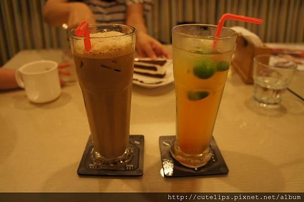 冰咖啡&冰桔茶