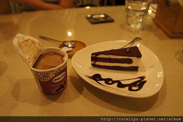 Haagen-Dazs巧克力冰淇淋&蛋糕