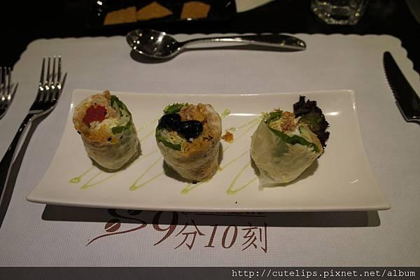 生菜鮪魚捲