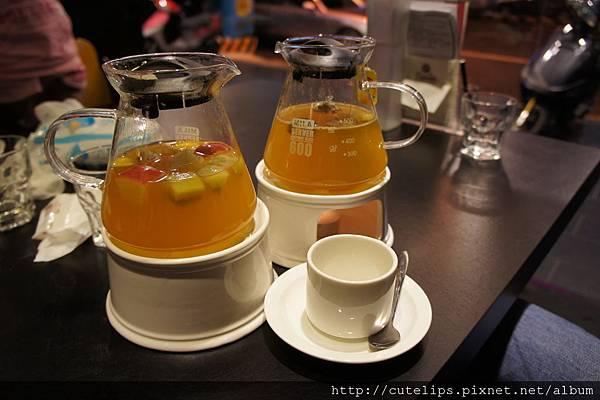 新鮮水果茶&香橙蜜桔汁