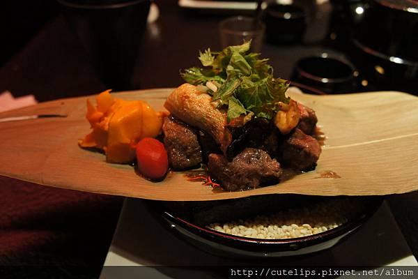 牛肉箬竹燒