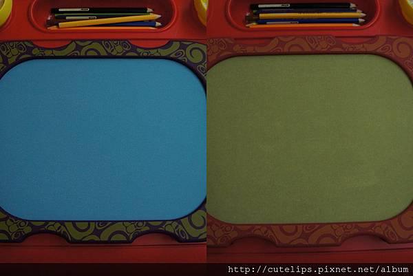 正反兩面畫板的顏色