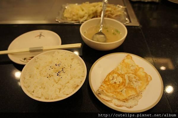 白飯、湯&荷包蛋