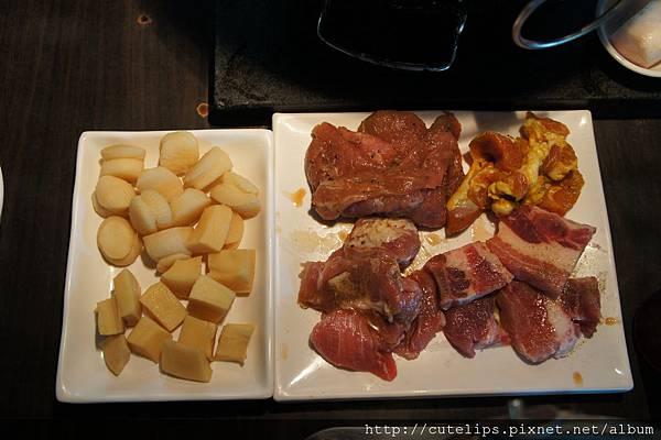 干貝、鮑魚角&豬肉拼盤