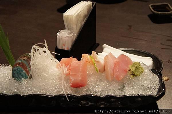 230元中食及380元定食-生魚片