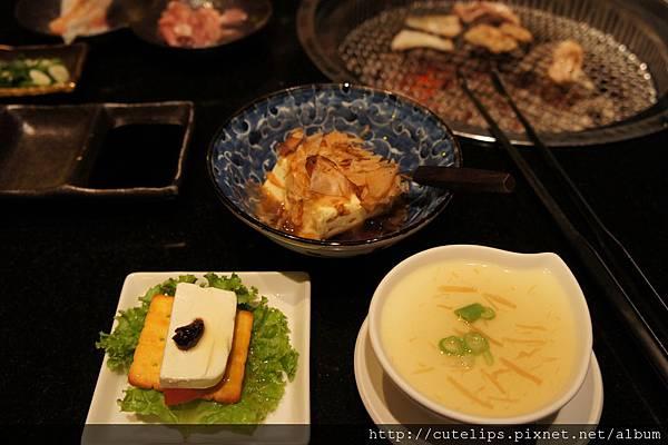 冷豆腐&番茄乳酪薄餅&山藥釜蛋