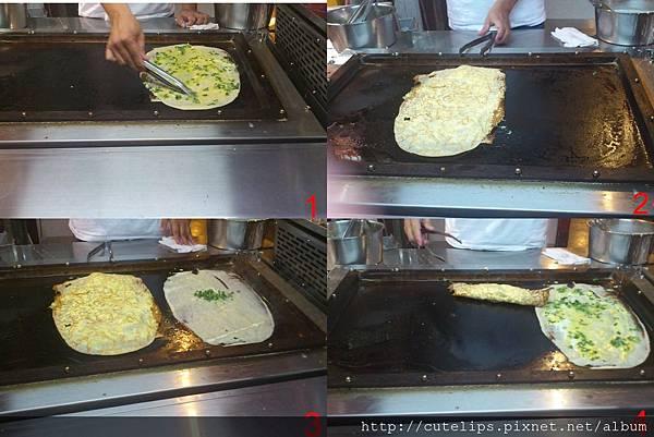 明倫蛋餅製作過程