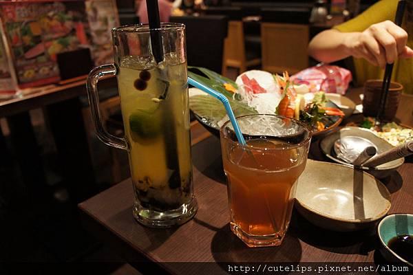 百香芒果茶&烏龍茶