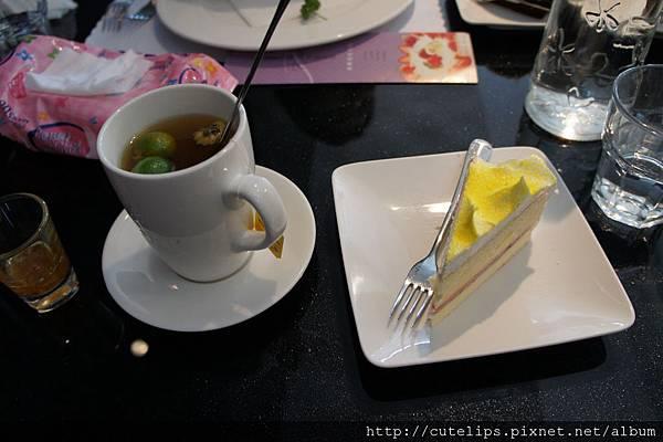 熱桔茶&蛋糕