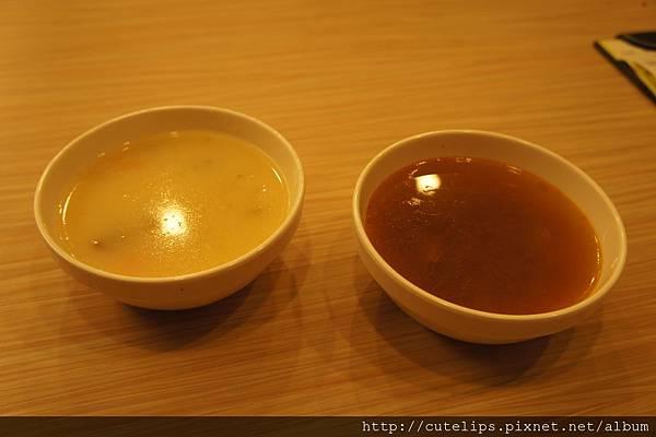 玉米濃湯&牛筋湯