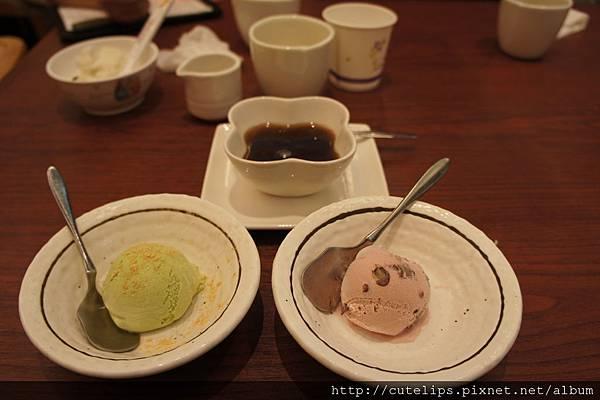 紅豆紫米湯、抹茶&紅豆冰淇淋
