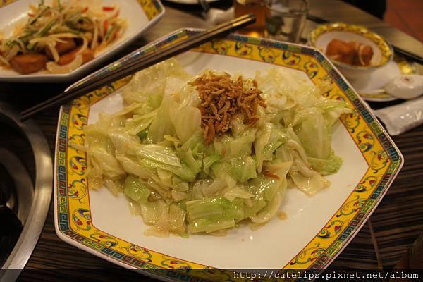 銀魚炒高麗菜