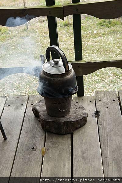 用龍眼木燒茶