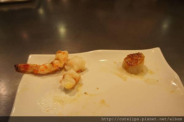 香煎大明蝦+香煎日本生干貝