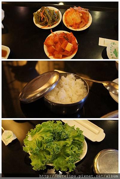 小菜、白飯&生菜