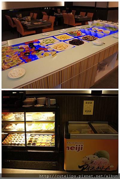 沙拉、水果、蛋糕&冰淇淋區
