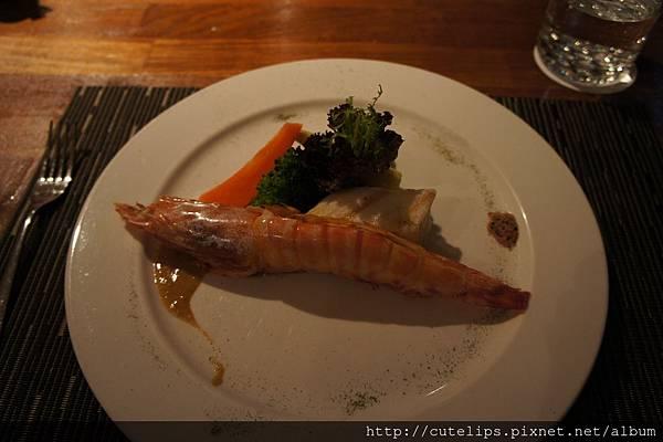 鹽燒烤大明蝦與圓鱈