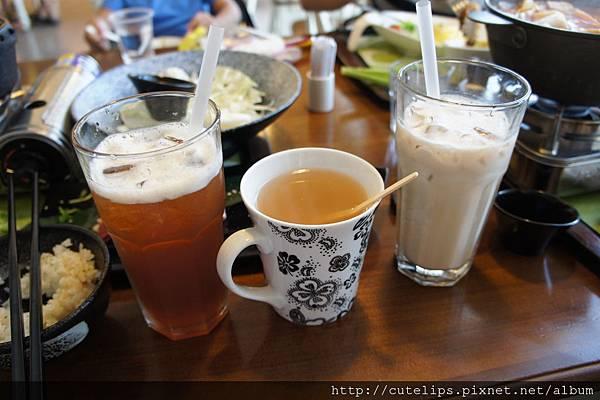冰紅茶、熱韓國柚子茶&冰奶茶