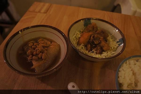 梅醬燒雞+豆醬鮮魚