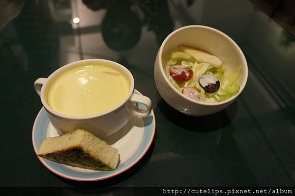 方塊濃湯&沙拉