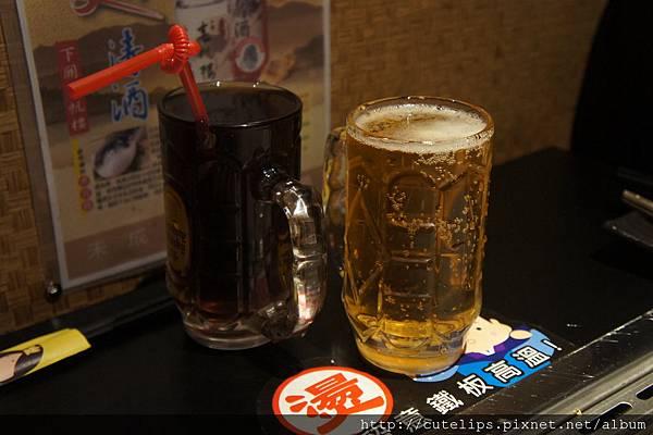 紅茶&orion啤酒