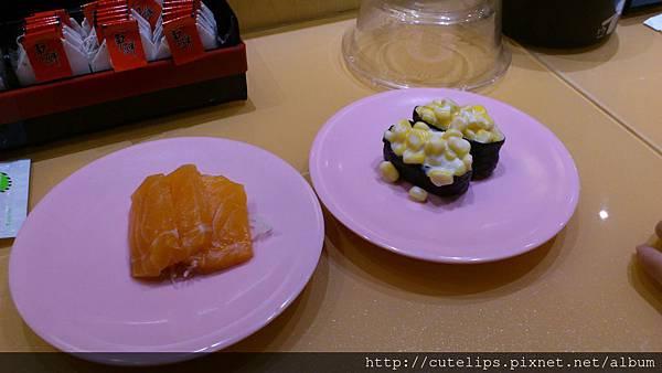 鮭魚生魚片&玉米壽司