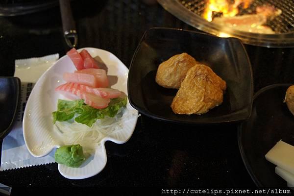 生魚片&豆皮壽司