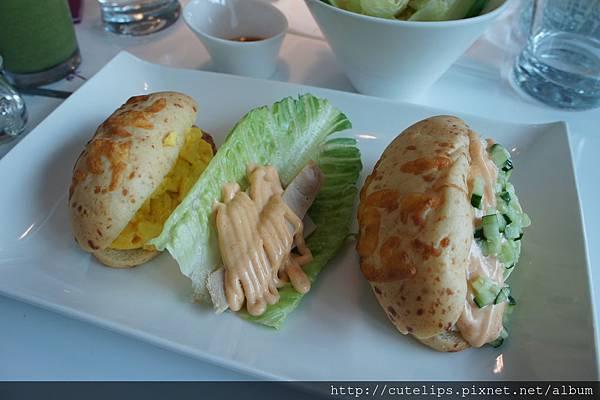 田園輕食套餐B-嫩蛋培根起司堡、蘿蔓生菜雞肉捲&辣味雞肉起司堡