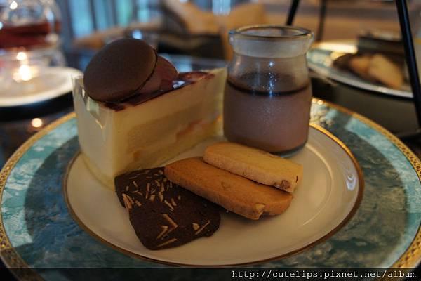 第三層-北海道慕斯、巧克力奶酪&手工餅乾