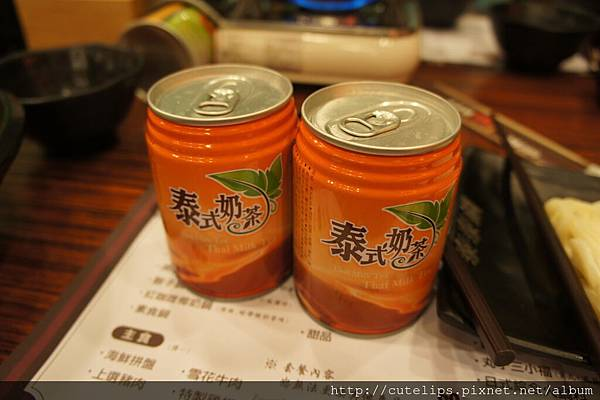 打卡贈送的泰國奶茶2罐